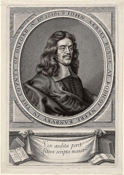 An image of John Kersey by William Faithorne
