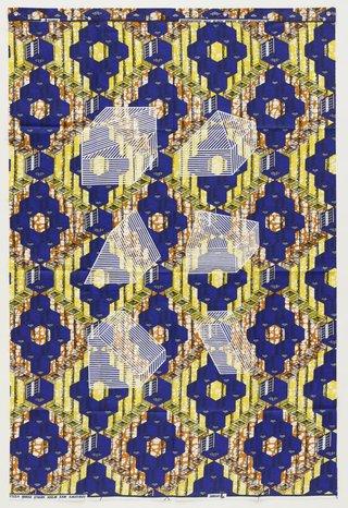 AGNSW collection Jonathan Monk Dessins Isométriques (Afrique Cubique) C5 (2017) 526.2017
