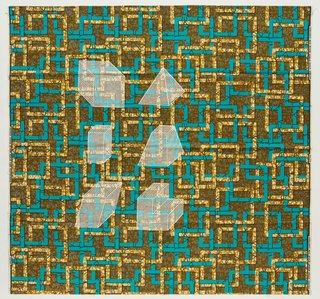 AGNSW collection Jonathan Monk Dessins Isométriques (Afrique Cubique) D5 (2017) 527.2017