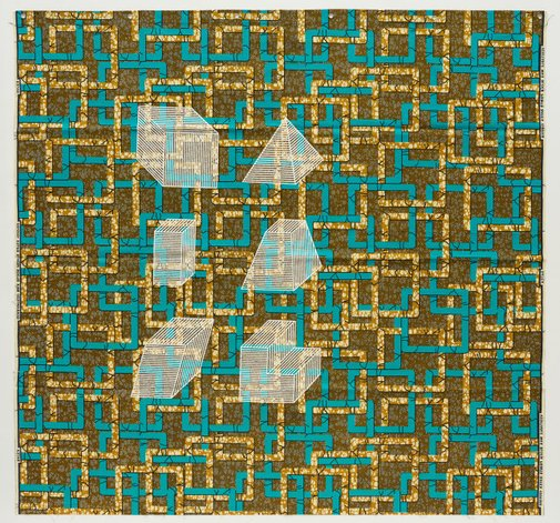 An image of Dessins Isométriques (Afrique Cubique) D5 by Jonathan Monk