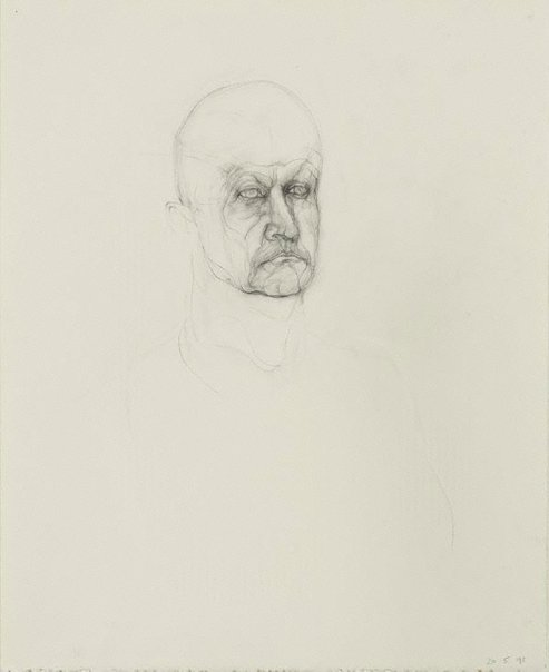 An image of Untitled portrait of G by Mike Parr