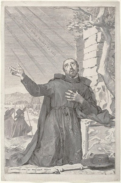 An image of The ecstacy of Saint Ignatius by Claude Mellan