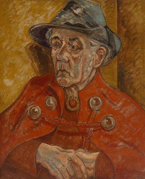 An image of The red cloak by Roy de Maistre