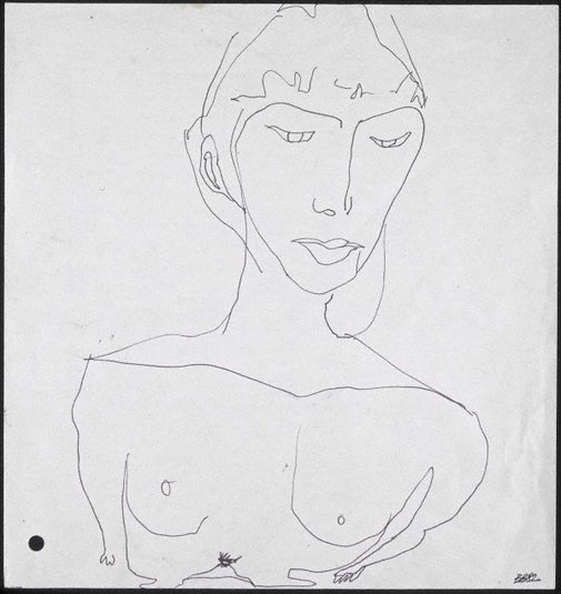 An image of Big Julie (Sketch for triptych) by Bill Brown