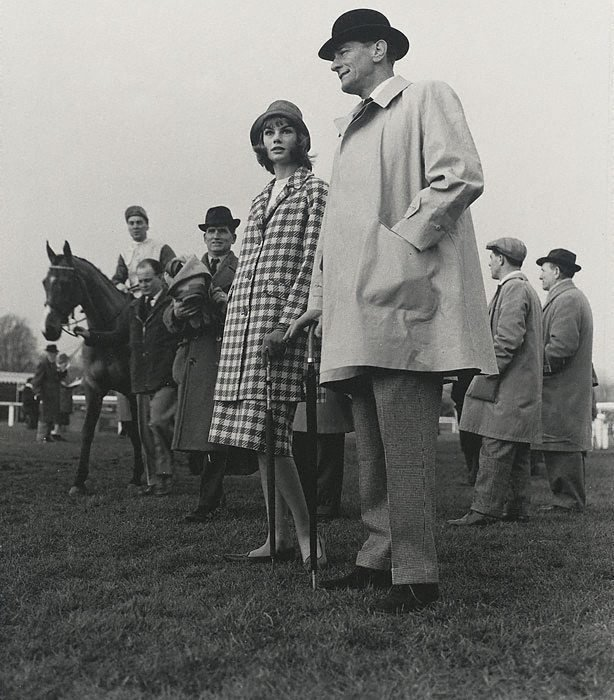 An image of Jean Shrimpton and Chris Powell, Racecourse Fashion for 'Go!'