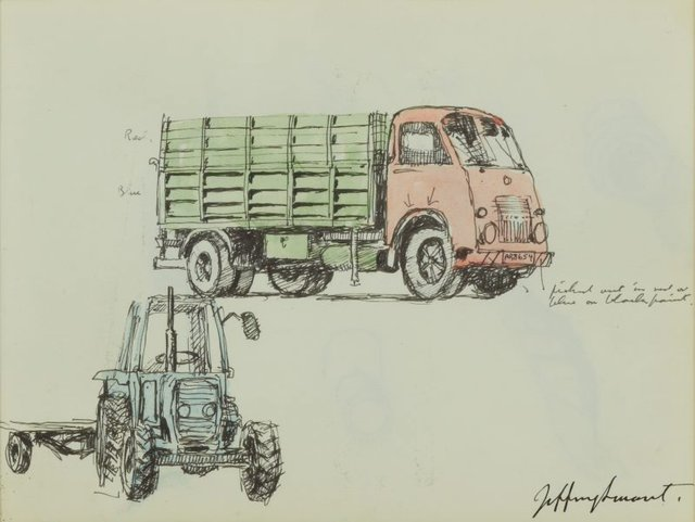 An image of Truck and tractor