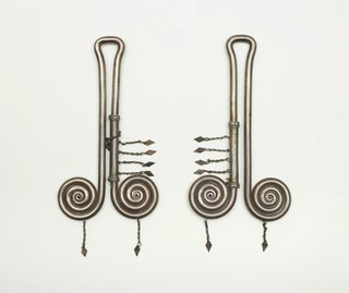 AGNSW collection Woman's ear ornaments (padung-padung) late 19th century-early 20th century