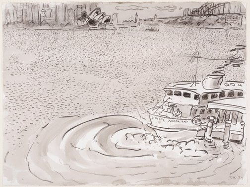 An image of Robertson's Point, Cremorne by Peter Kingston