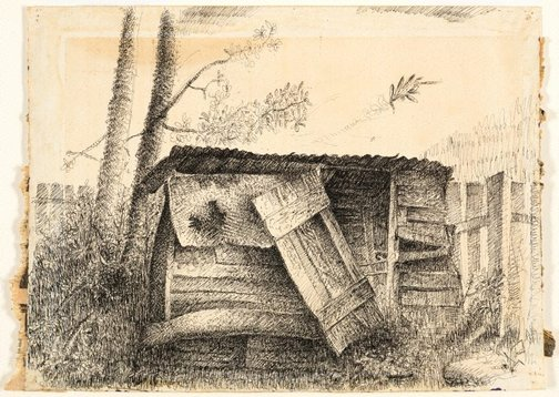 An image of (Study of a shed) by Jan Riske