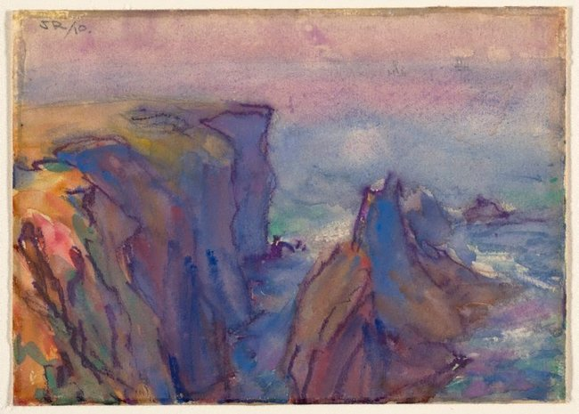 AGNSW collection John Russell Les Aiguilles, Belle Ile 1910