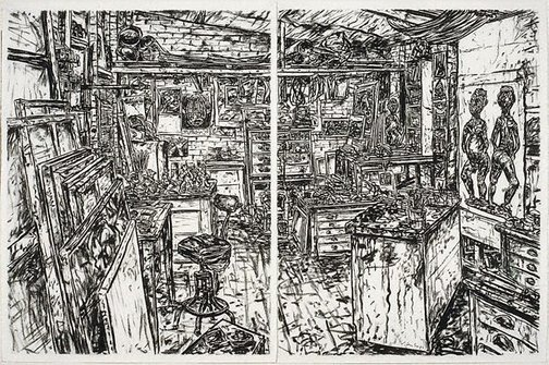 An image of Studio interior by Jan Senbergs