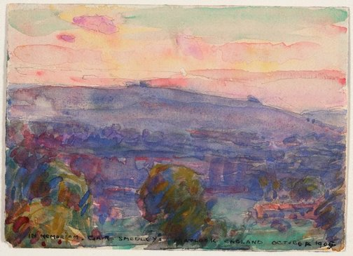 An image of Landscape, Matlock by John Russell