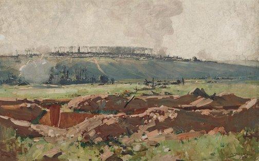 An image of Villers Bretonneux by Arthur Streeton