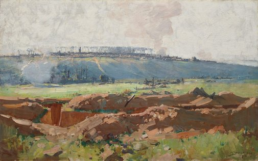An image of Villers Bretonneux by Arthur Streeton
