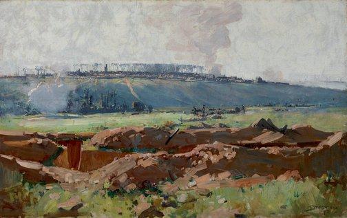 An image of Villers-Bretonneux by Arthur Streeton
