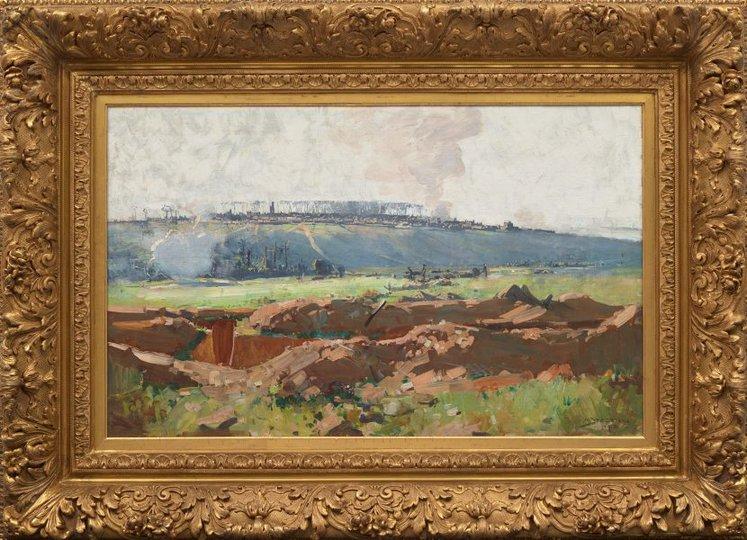 AGNSW collection Arthur Streeton Villers-Bretonneux (1918) 538