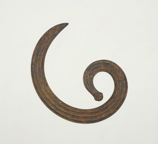 AGNSW collection Head ornament (sanggori) in the shape of a sepernt 19th century-20th century
