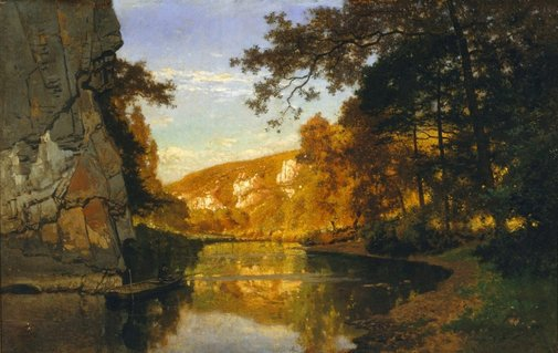 An image of On the river Lesse by Joseph Quineaux