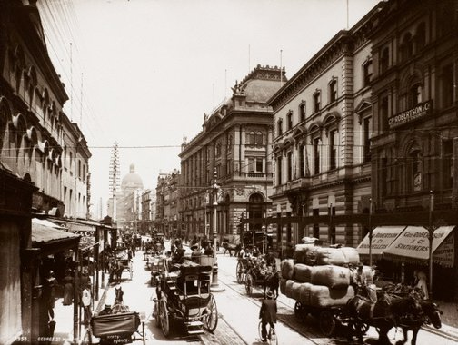An image of George Street near the G.P.O. by Unknown, Kerry & Co