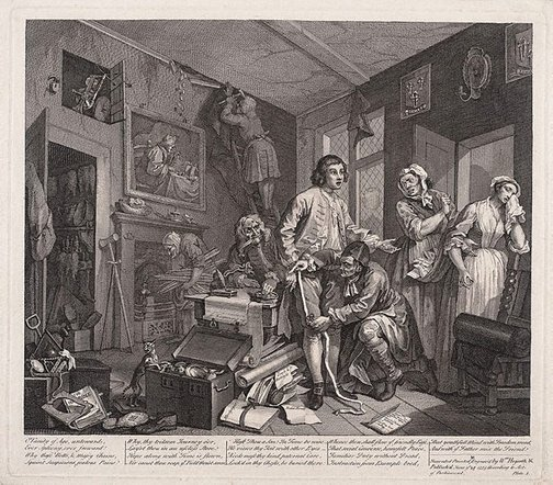 An image of A rake's progress: plate 1 by William Hogarth