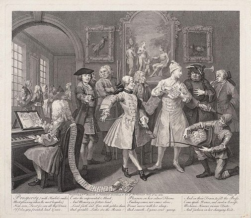 An image of A rake's progress: plate 2 by William Hogarth