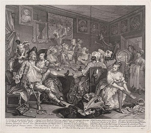 An image of A rake's progress: plate 3 by William Hogarth