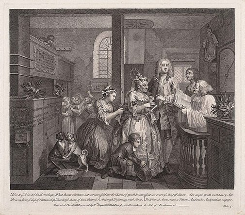 An image of A rake's progress: plate 5 by William Hogarth