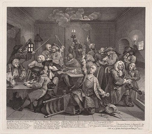 An image of A rake's progress: plate 6 by William Hogarth