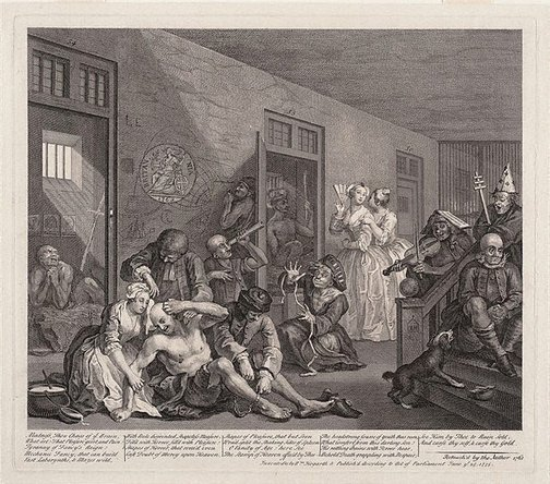 An image of A rake's progress: plate 8 by William Hogarth