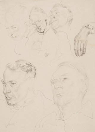 AGNSW collection Mary Abbott Grantley (head studies) (circa 1948-circa 1950) 54.2014