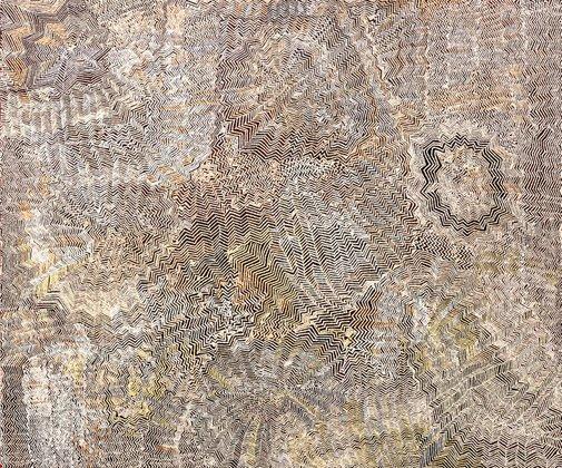 An image of Tingari sites around Kiwirrkura by Bobby West Tjupurrula