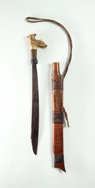 AGNSW collection Sword (mandau) with scabbard 19th century-20th century