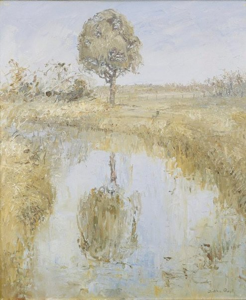 An image of Landscape at Murrumbeena by Arthur Boyd