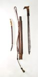 Alternate image of Sword (mandau) with scabbard and knife by