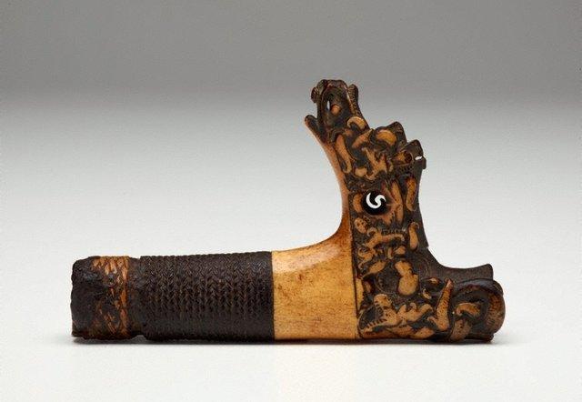 An image of Hilt for a sword (mandau)