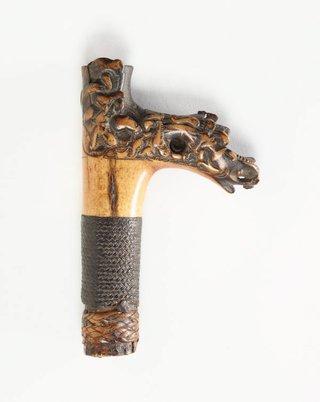AGNSW collection Hilt for a sword (mandau) 19th century-20th century