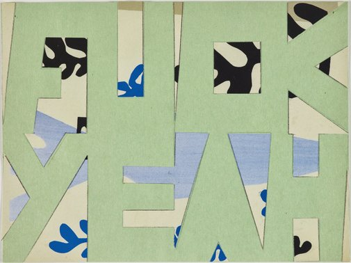 An image of Fuck yeah (Matisse green) by Jon Campbell