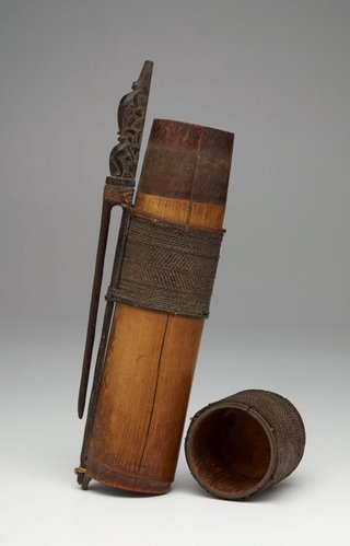 AGNSW collection Quiver for poison darts (tolor or telenga) 19th century-20th century