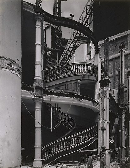 An image of Staircase in demolition of old CSR head office, Sydney by Max Dupain