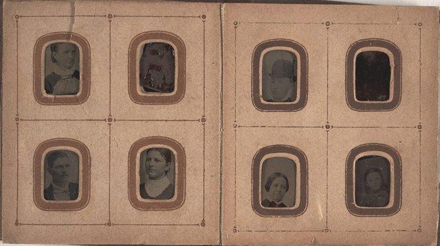 An image of Album 3 (album of tintype portraits)