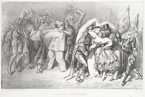 An image of Mid-Lent ball by Gustave Doré