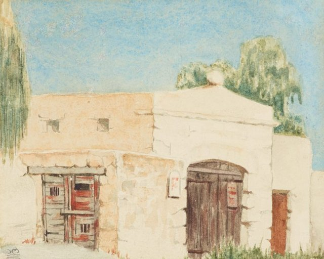 An image of First watercolour outdoors, Rottnest W.A.