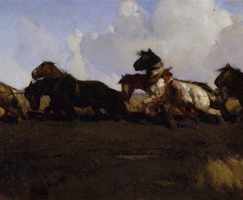 Alternate image of Across the black soil plains by George Lambert