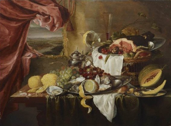 An image of Still life with imaginary view