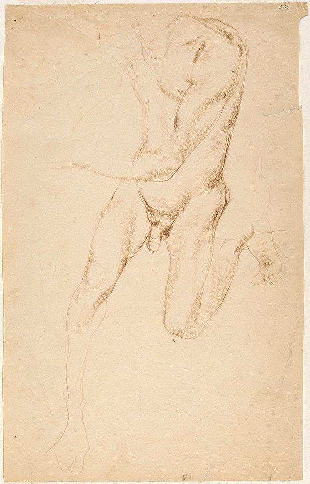 An image of (Nude figure studies) (Student studies)