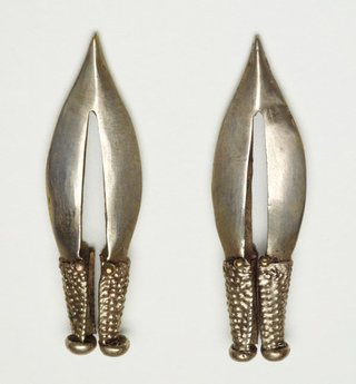 AGNSW collection Pair of earrings 19th century-20th century