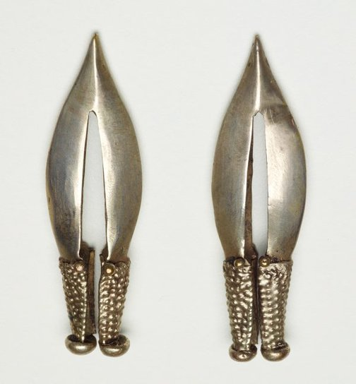 An image of Pair of earrings by