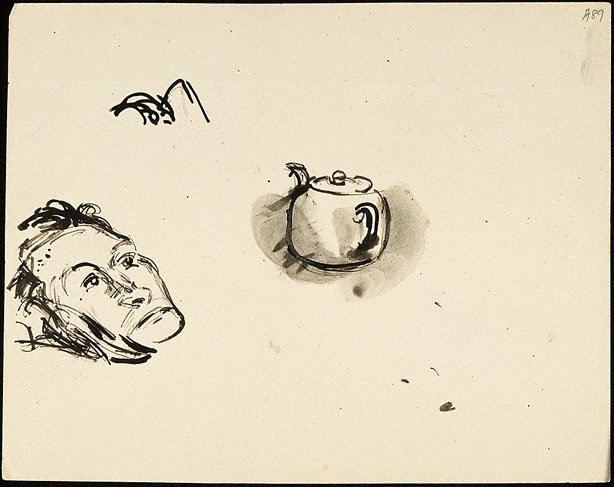 An image of (Head and teapot) (Student studies)
