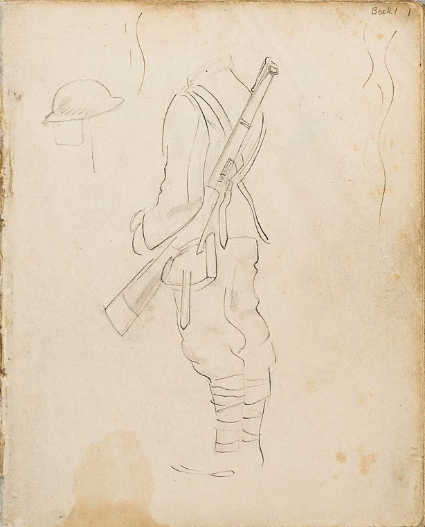 An image of (Soldier's uniform study) (London genre)