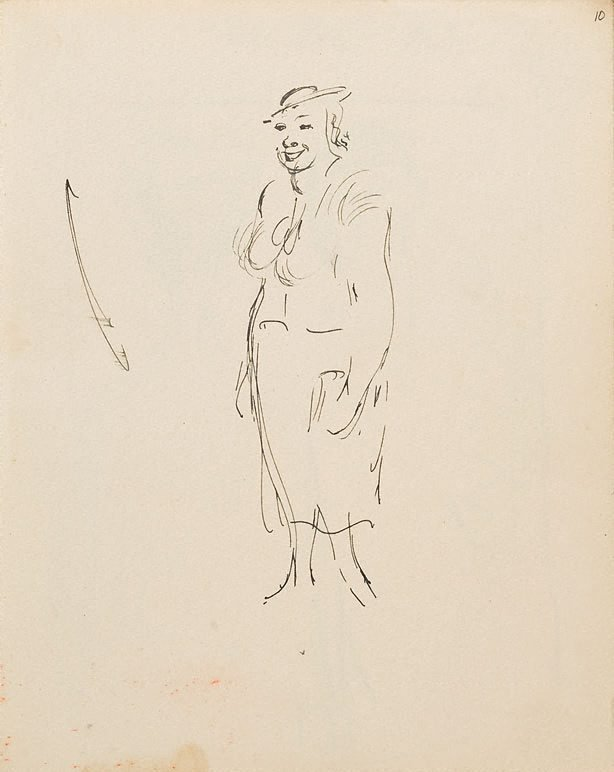 An image of (Woman with hat) (London genre)